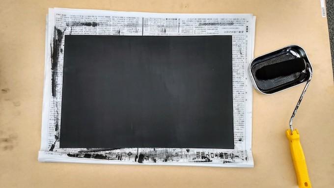 チョークアートの黒板を乾燥