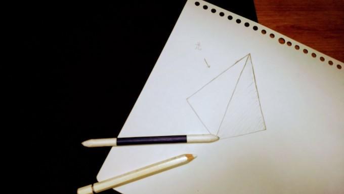 三角錐の描く手順