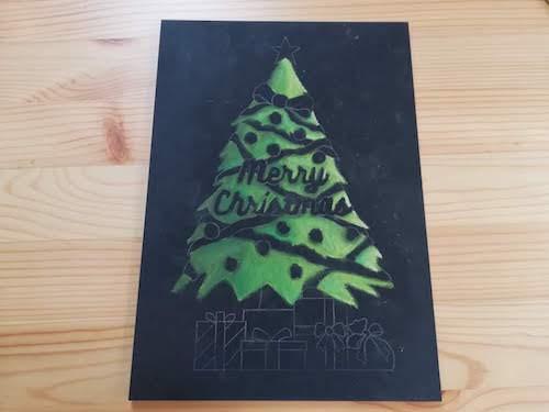 クリスマスツリーで全体を着色