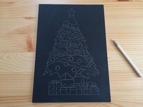 クリスマスツリーの下絵